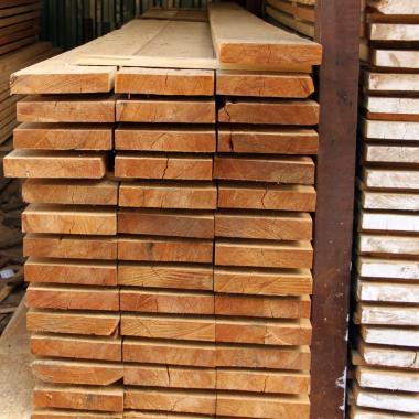 Доска обрезная лиственница 25х150